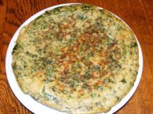 Mangoldfrittata mit Nordseekrabben - Rezept