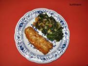 Blattspinat (fast) mediterran - Rezept