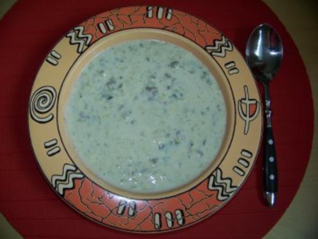 Käsesuppe mit Hackfleisch und Porree - Rezept - Bild Nr. 2