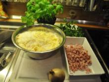 Spaghetti mit 7-Käse-Schinken-Soße - Rezept