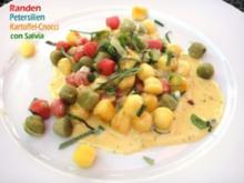 Gnocchi di Patate tre Colori a la Panna con Salvia - Rezept