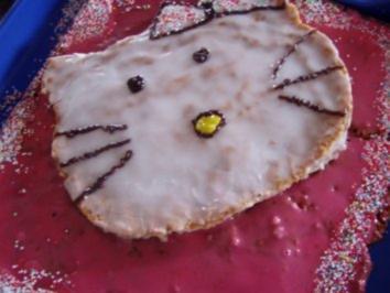 -Geburtstag- Kirsch-Hello Kitty-Geburtstagskuchen - Rezept