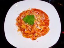 Pasta: Fettucine in Wodka-Calvados-Sauce - Rezept
