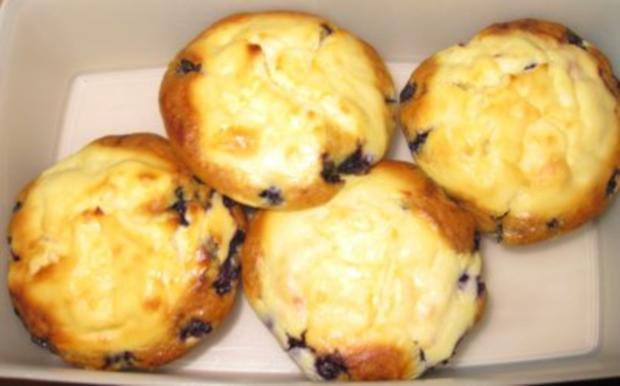 Cheesecake-Muffins mit Blaubeeren - Rezept