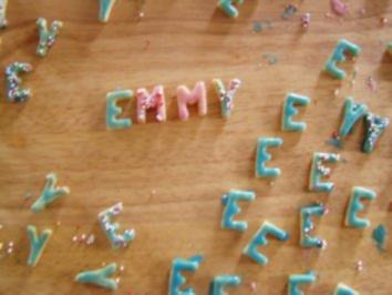 Rezept: -Geburtstag- Buchstabenkekse für Emmy