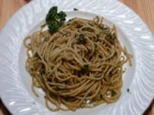 Spaghetti, grüne Currypaste, Kokosmilch - Rezept