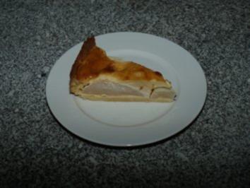 Birnenkuchen mit Marzipanguss - Rezept