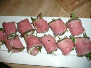 ROASTBEEF:gefüllte Roastbeef-Röllchen - Rezept