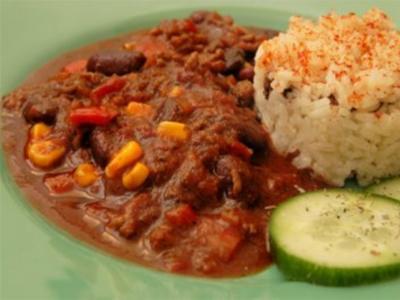 Chili con carne - con carne de res - Mexico - Rezept