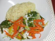 Fisch : Kabeljau im Gemüsebeet, in der Auflaufform zum weiter Sagen - Rezept