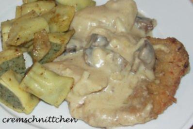 Sellerie - Pilz - Schnitzel - Rezept