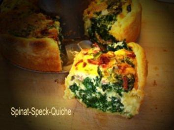 Spinat-Speck-Quiche - Rezept