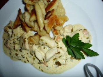 Rezept: Hühnerbrust geschnetzelt in Estragonsauce