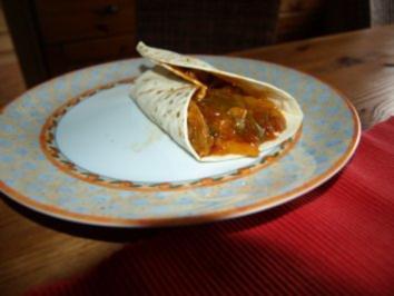 Tortilla pikant gefüllt - Rezept