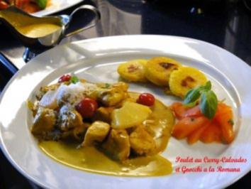 Poulet au Curry-Calvados e Gnocchi a la Romana - Rezept