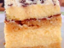 Biskuit-Pfirsich-Sahneschnitte - Rezept