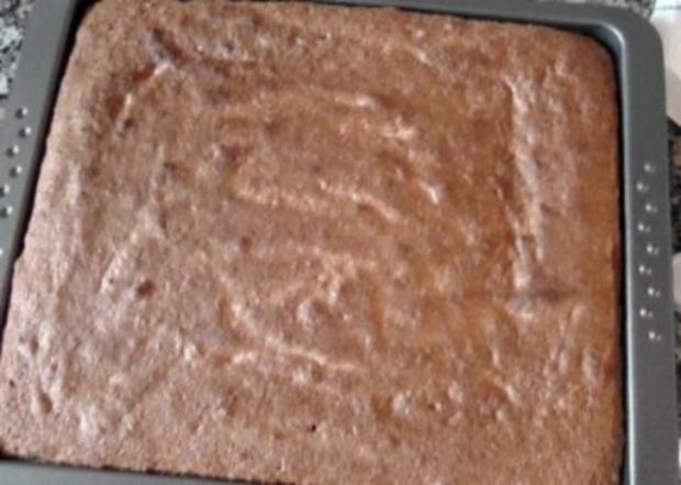 Biskuit-Pfirsich-Sahneschnitte - Rezept - Bild Nr. 8