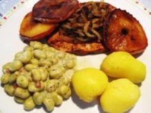 Putensteaks - mit Äpfeln und Zwiebeln... - Rezept