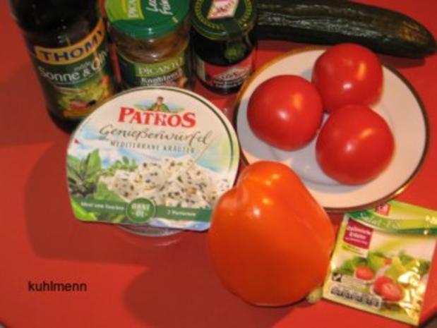 Salatschüssel  mediterran - Rezept - Bild Nr. 2