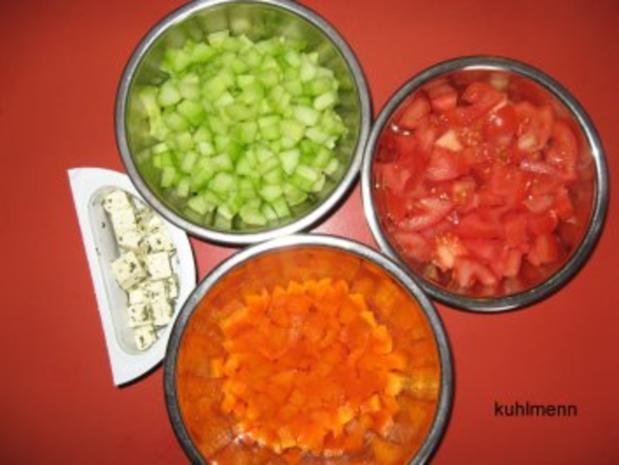 Salatschüssel  mediterran - Rezept - Bild Nr. 4