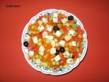 Salatschüssel  mediterran - Rezept