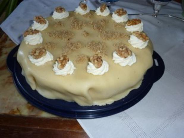 Torten: Marzipan-Nußtorte - Rezept