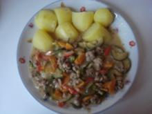 Gemüse Pfanne mit Hackfleisch - Rezept