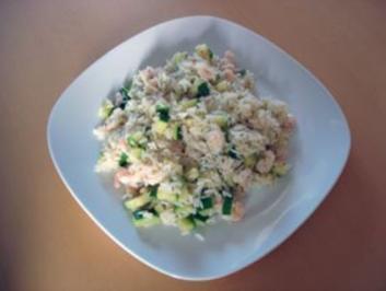Risotto mit Zucchini und Garnelen - Rezept
