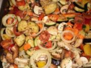 Mediterranes Ofengemüse mit Honig-Essig-Öl-Marinade - Rezept