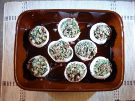 Champignonköpfe gefüllt - Rezept