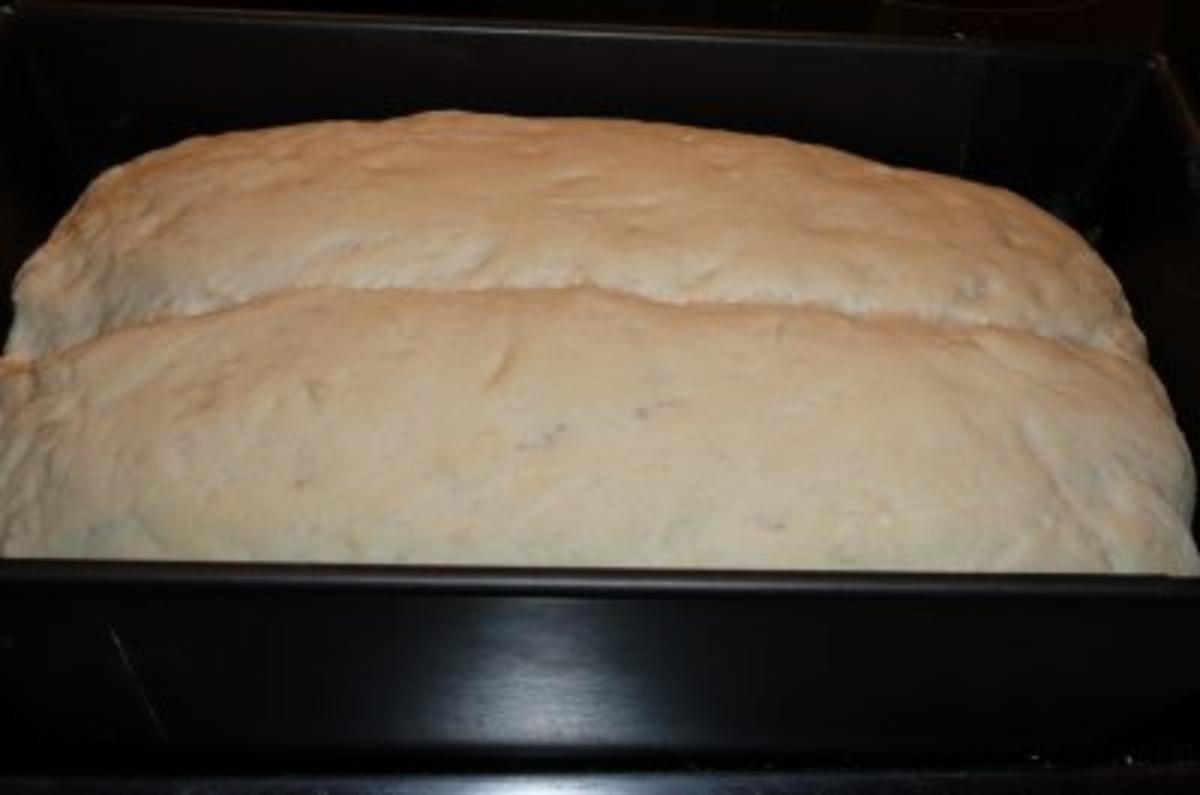 Brot: Weißbrot mit Frischkäse