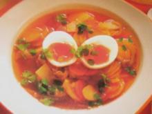 Suppe/Klar - Klare Kartoffelsuppe mit wachsweichem Ei - Rezept
