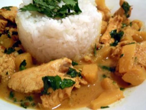 Chicken-Ananas-Curry - Rezept