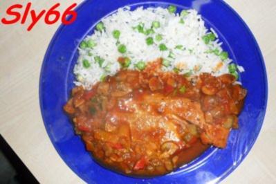 Rezept: Fleischgerichte:Naturschnitzel in Zigeunersoße