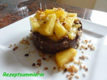 Rezept: Dessert:  SCHOKOPUDDING mit frischer Ananas