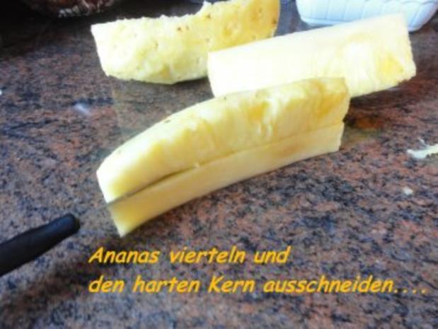 Dessert:  SCHOKOPUDDING mit frischer Ananas - Rezept - Bild Nr. 3