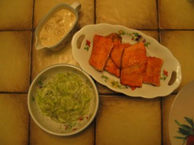 Fisch + Meeresfrüchte: Eismeer-Lachsforelle mit Krabben in Sherry-Sahne-Soße - Rezept - Bild Nr. 4