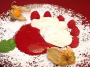 Ricotta-Creme mit Himbeer-Mousse - Rezept