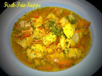 Fisch-Trio-Suppe mit Rouille - Rezept