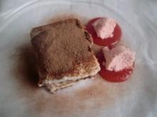 Schokoladen-Tiramisu mit Erdbeermouse - Rezept