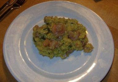 C1: Risotto mit Meeresfrüchten und Mangold - Rezept