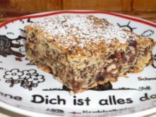 Schokoladenkuchen mit Erdnüssen und Sultaninen - Rezept