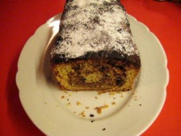 Spanischer Nußkuchen mit Nuss - Nougat verfeinert - Rezept