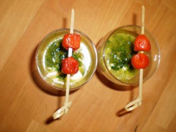 Büffelmozzarella mit Bärlauchöl - Rezept - Bild Nr. 2
