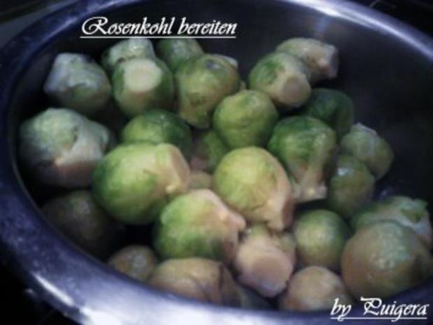 Entenbrust al Ananas an Rosenkohl und Kartoffelbällchen - Rezept - Bild Nr. 6