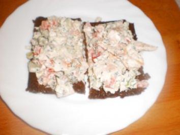 Forellen-Tatar auf Pumpernickel - Rezept