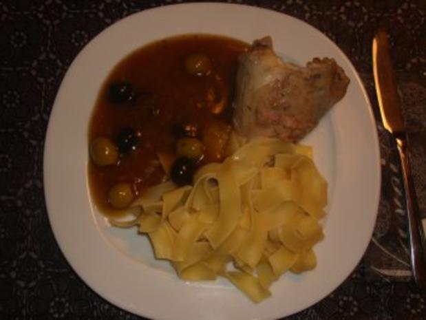 Fleischgerichte: Kaninchen in Olivensosse - Rezept - Bild Nr. 2