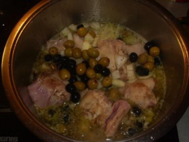 Fleischgerichte: Kaninchen in Olivensosse - Rezept - Bild Nr. 5