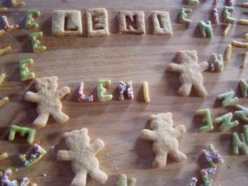 -Geburtstag- Buchstabenkekse für Leni - Rezept