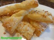 Blätterteig:  KNABBER-SCHLEIFEN ....  süß oder pikant - Rezept